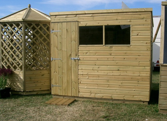 Pent shed install